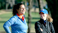 Maria Torres and Gators Coach Emily Glaser